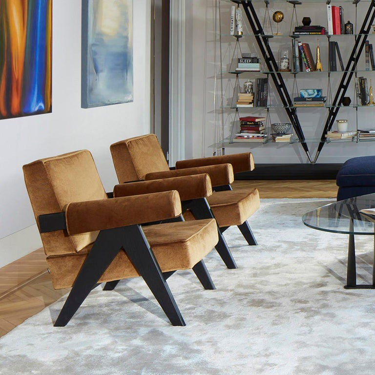 Leather Pierre Jeanneret 053 Capitol Complex Armchair by Cassina For Sale
