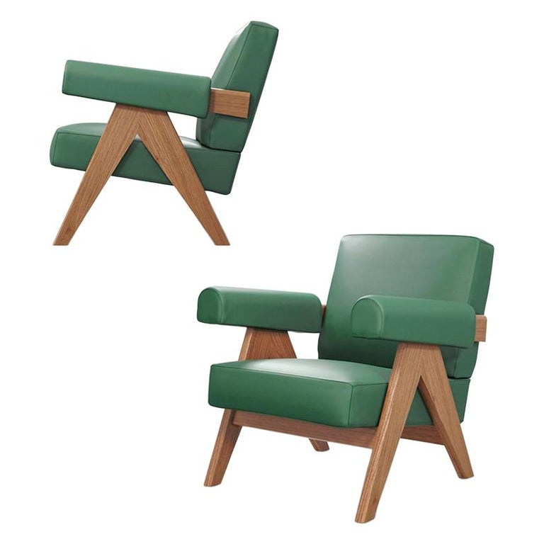 Pierre Jeanneret 053 Capitol Complex Armchair by Cassina For Sale
