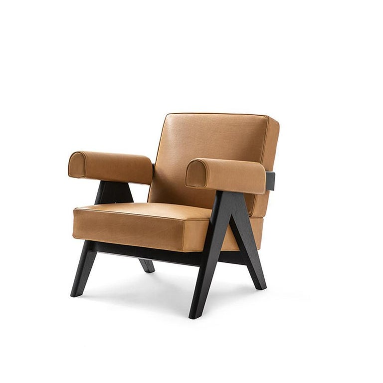 Mid-Century Modern Pierre Jeanneret 053 Capitol Complex Armchair by Cassina For Sale