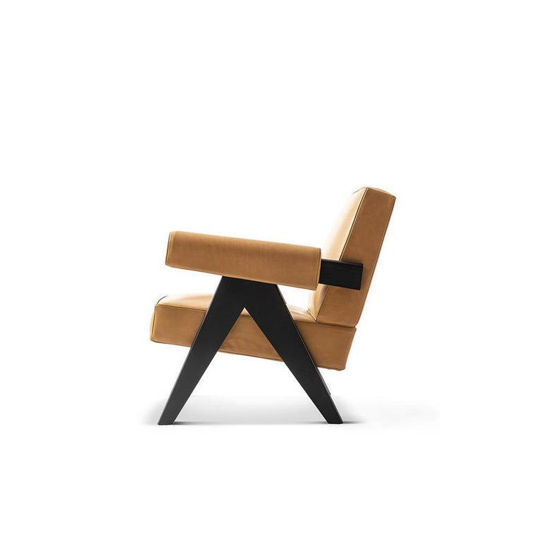 Italian Pierre Jeanneret 053 Capitol Complex Armchair by Cassina For Sale