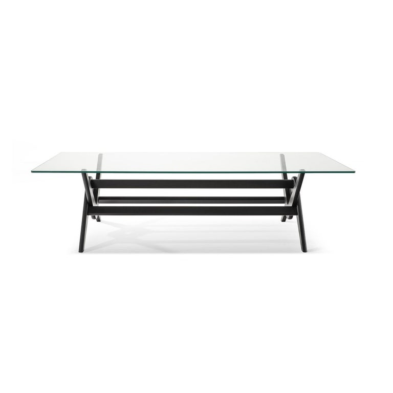 Table designed by Pierre Jeanneret circa 1950, relaunched in 2019. Manufactured by Cassina in Italy.  The inclusion of the UNESCO World Heritage List in 2016 has aroused great interest in Le Corbusier's Capitol Complex, an extraordinary