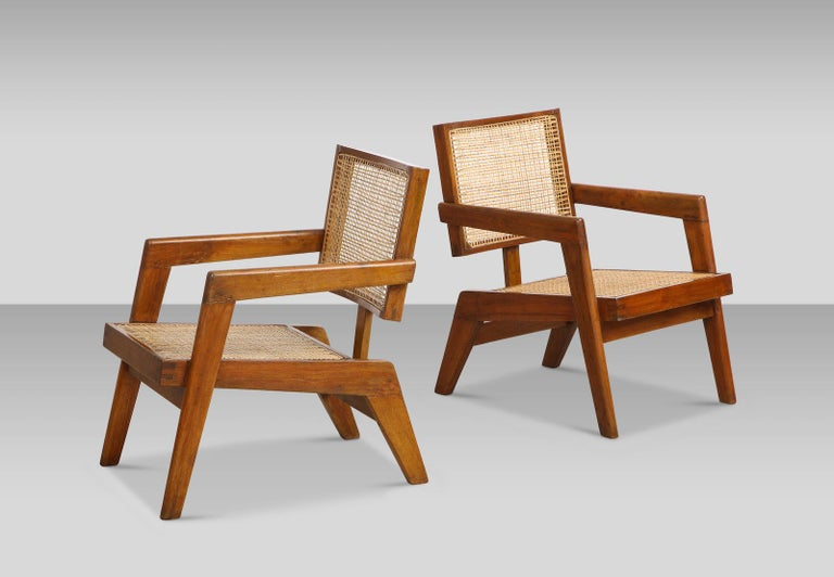 Mid-Century Modern Pierre Jeanneret Armchairs For Sale