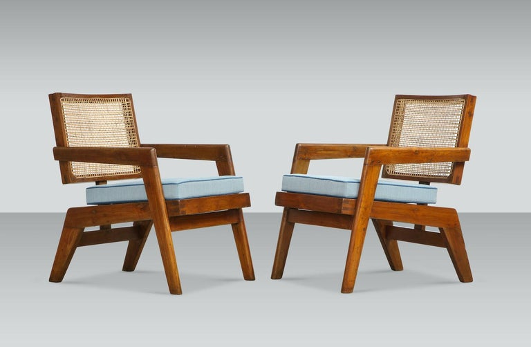 Pierre Jeanneret Armchairs In Good Condition For Sale In New York, NY