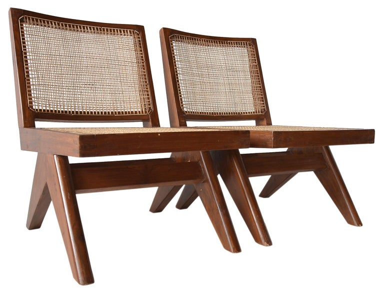 Pierre Jeanneret Armless Easychairs For Sale 1