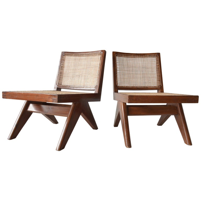 Pierre Jeanneret Armless Easychairs For Sale