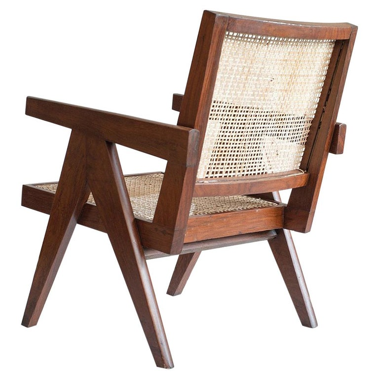 Pierre Jeanneret Authentic Easy Cane Chairs PJ-SI-29-A For Sale