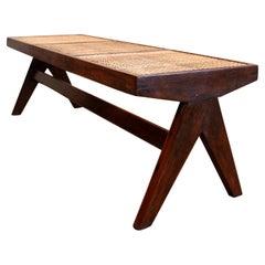 Pierre Jeanneret Cane Bench / Authentic Mid-Century Modern Chandigarh PJ-SI-33-C