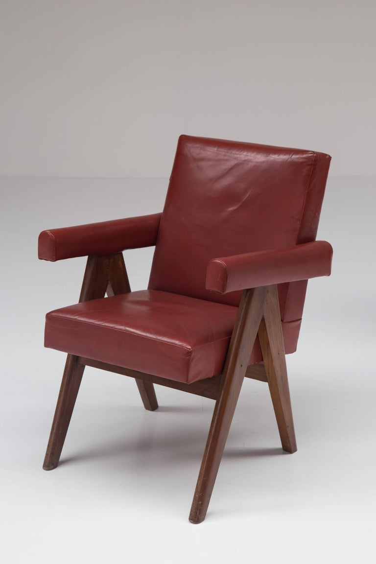 Mid-Century Modern Pierre Jeanneret 'Committee' Lounge Chairs For Sale