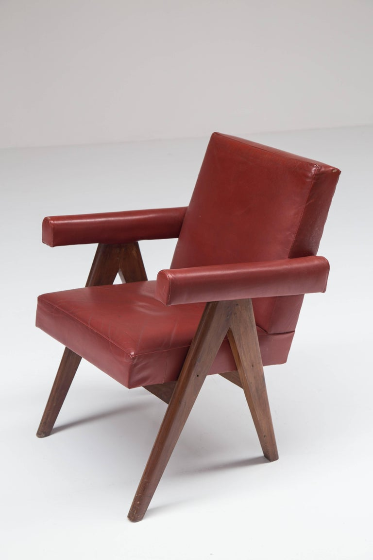 Pierre Jeanneret 'Committee' Lounge Chairs In Good Condition For Sale In Antwerp, BE
