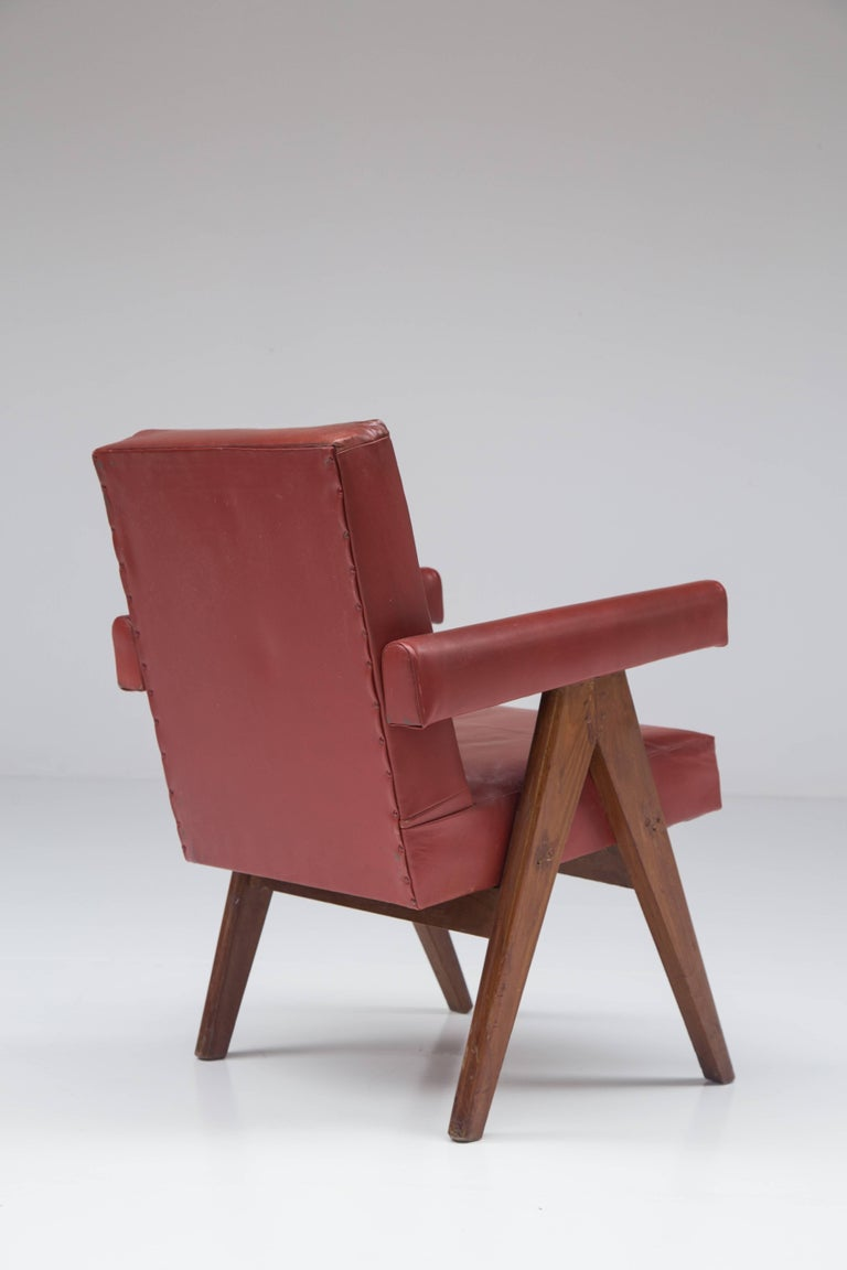 Mid-20th Century Pierre Jeanneret 'Committee' Lounge Chairs For Sale