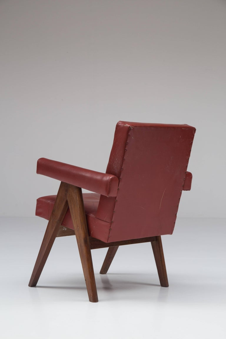Leather Pierre Jeanneret 'Committee' Lounge Chairs For Sale