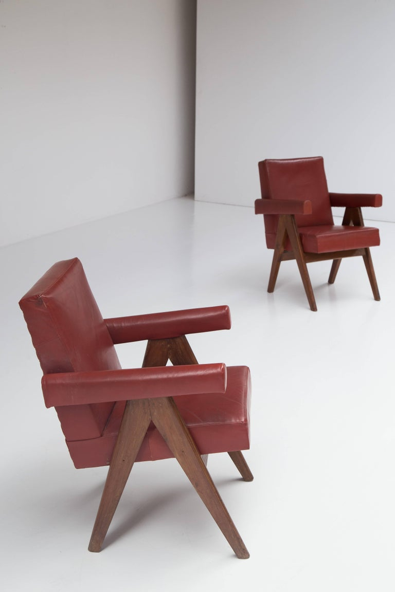 Pierre Jeanneret 'Committee' Lounge Chairs For Sale 1