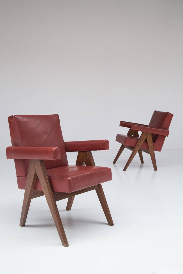 Pierre Jeanneret 'Committee' Lounge Chairs For Sale 2
