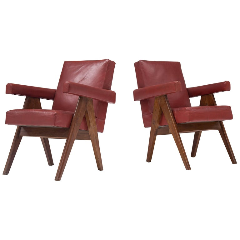 Pierre Jeanneret 'Committee' Lounge Chairs For Sale