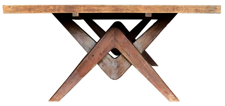 Mid-Century Modern Pierre Jeanneret Committee Table For Sale