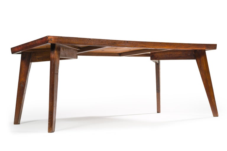 Indian Pierre Jeanneret, Dining Table, 1960 For Sale