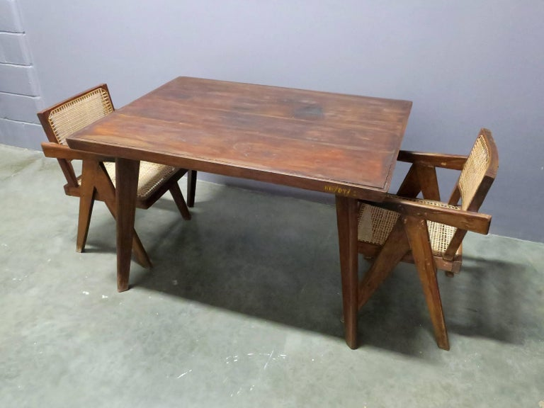 Modern Pierre Jeanneret Dining Table For Sale