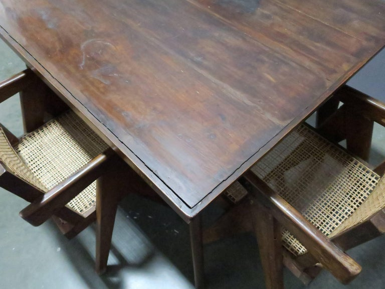 Indian Pierre Jeanneret Dining Table For Sale