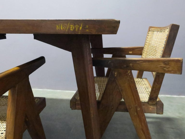 Pierre Jeanneret Dining Table In Excellent Condition For Sale In Brooklyn, NY
