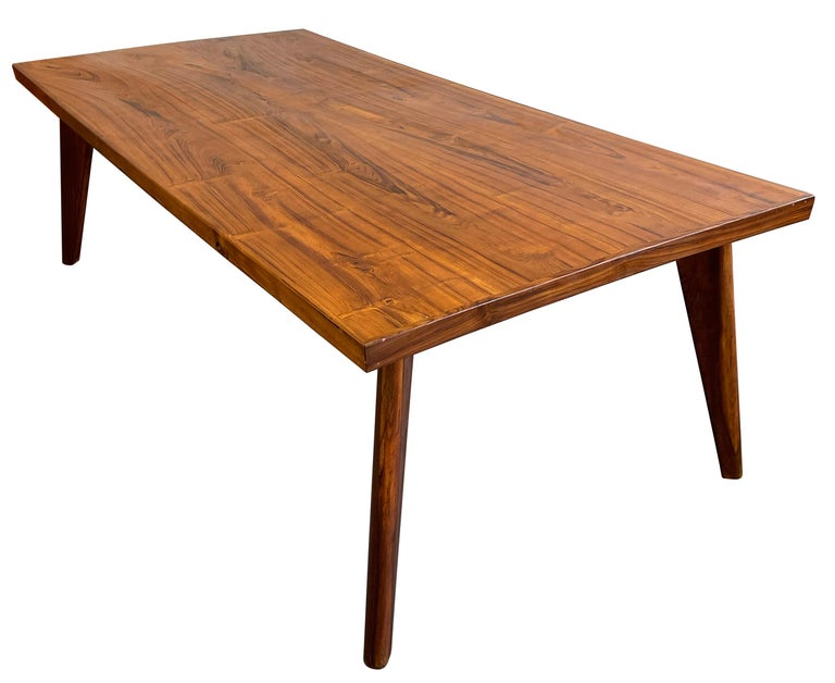 Indian Pierre Jeanneret Dining Table in Sissoo Wood For Sale