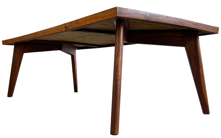 Pierre Jeanneret Dining Table in Sissoo Wood In Good Condition For Sale In Toronto, Ontario