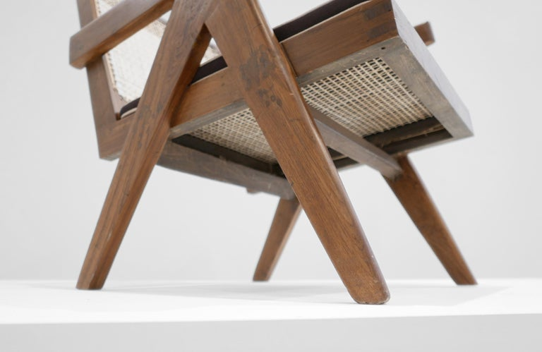 Cane Pierre Jeanneret 'Easy' Armchair, circa 1955 For Sale