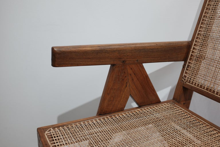 """Indian Pierre Jeanneret """"Easy Armchair"""", PJ-SI-29-A For Sale"""