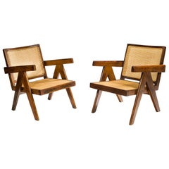 Pierre Jeanneret, Easy Armchairs PJ-SI-29-A, 1955