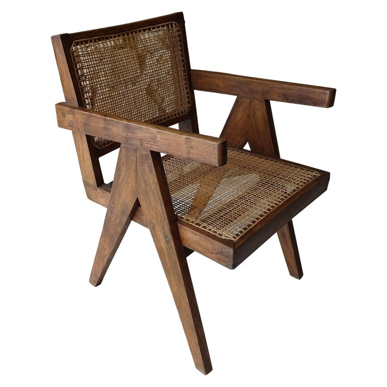 """Pierre Jeanneret """"Easy Chair"""" Armchair For Sale"""