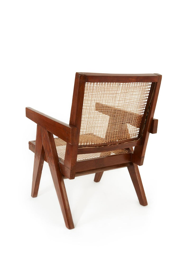 Indian Pierre Jeanneret Easy Chair For Sale