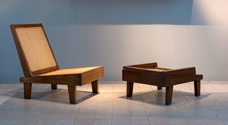 Indian Pierre Jeanneret, Folding Chairs, PJ-SI-61-A, Chandigarh, Teak and Cane