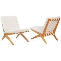 Pierre Jeanneret Knoll Scissor Chairs