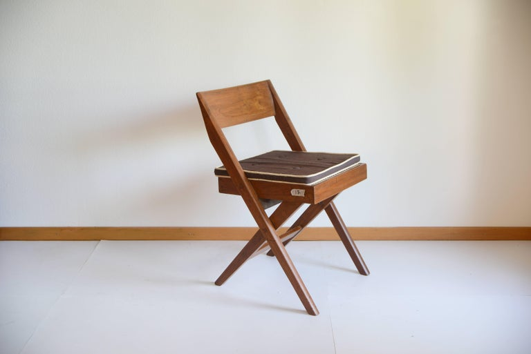 Mid-Century Modern Pierre Jeanneret Library Chair from Chandigarh PJ-SI-51-A