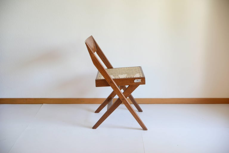 Pierre Jeanneret Library Chair from Chandigarh PJ-SI-51-A 1