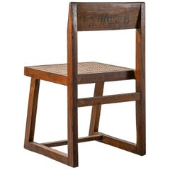 Pierre Jeanneret Library Chair Model No. PJ-SI-54-A Chandigarh, 1960s