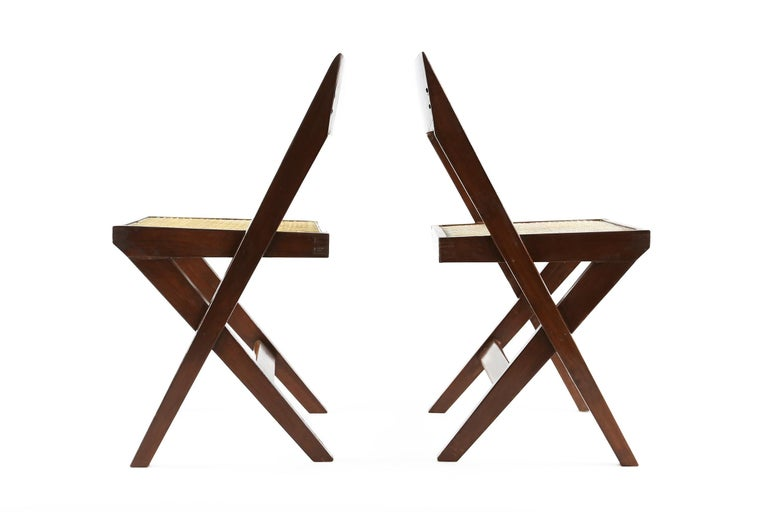 Mid-Century Modern Pierre Jeanneret Library Chairs from Chandigarh, 1960s For Sale