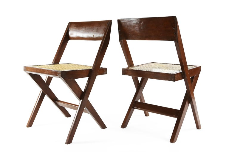 Indian Pierre Jeanneret Library Chairs from Chandigarh, 1960s For Sale