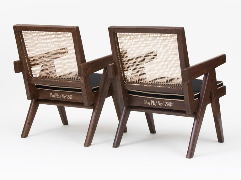 Pierre Jeanneret Low Lounge Chairs For Sale 7