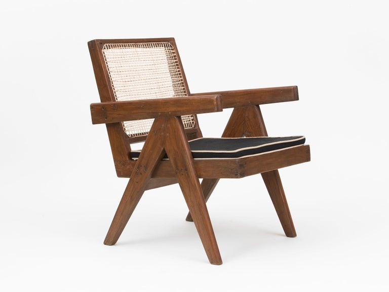 Mid-20th Century Pierre Jeanneret Low Lounge Chairs For Sale
