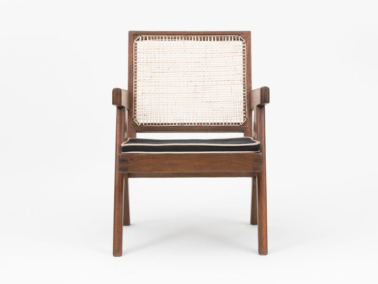 Hardwood Pierre Jeanneret Low Lounge Chairs For Sale
