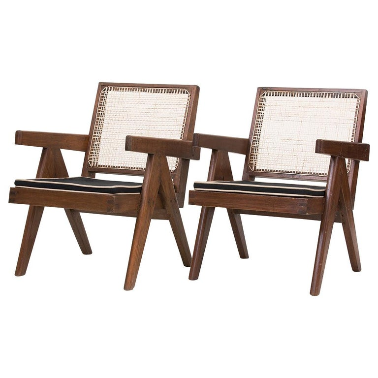 Pierre Jeanneret Low Lounge Chairs For Sale