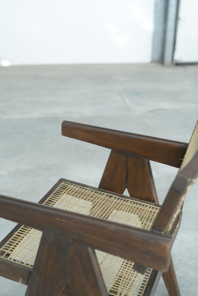 Pierre Jeanneret Office Cane Chair | Authentic Mid-Century Modern PJ-SI-28-A For Sale 5