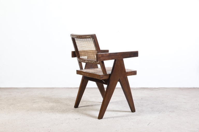 This chair is not only a fantastic piece, it's a design icon. Finally, it's the most famous item of all Chandigarh items. It is raw in its simplicity, embodying an expressing a nonchalance. There is something deeply relaxing about this design and at