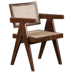 Pierre Jeanneret Office Cane Chair Authentic Mid-Century Modern PJ-SI-28-A