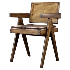Pierre Jeanneret Office Cane Chair Authentic Mid-Century Modern PJ-SI-28-B