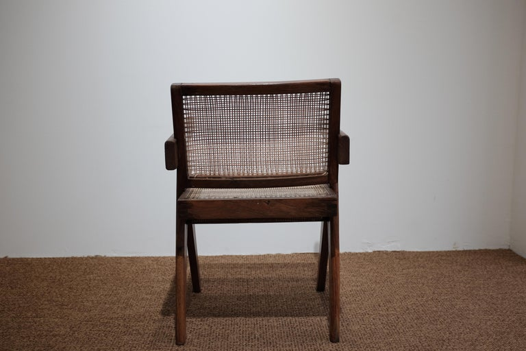 """20th Century Pierre Jeanneret """"Office cane chair"""", Chandigarh For Sale"""