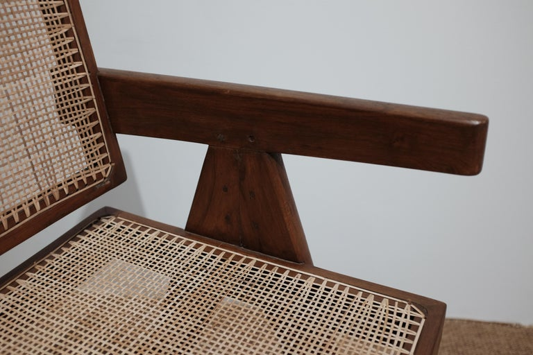 """Pierre Jeanneret """"Office cane chair"""", Chandigarh For Sale 1"""