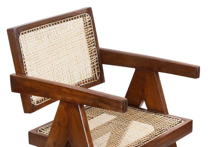 Pierre Jeanneret Office Cane Chair PJ-SI-28-A 'Authentic' 4