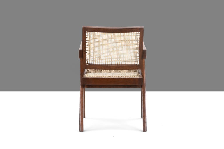 Pierre Jeanneret Office Cane Chair PJ-SI-28-A 'Authentic' In Good Condition In Dietikon, CH
