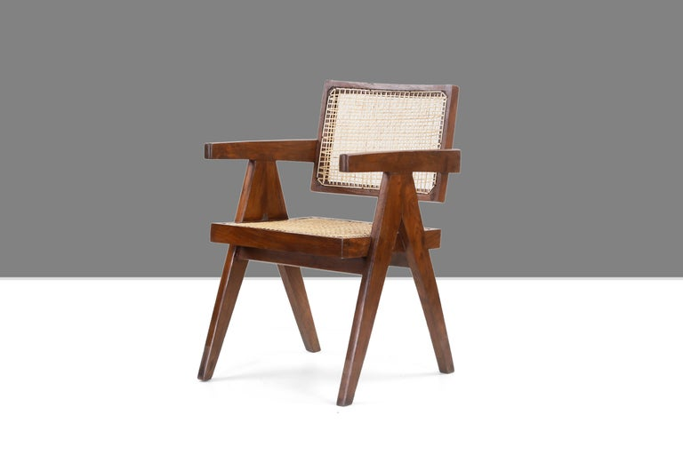 Pierre Jeanneret Office Cane Chair PJ-SI-28-A 'Authentic' 1